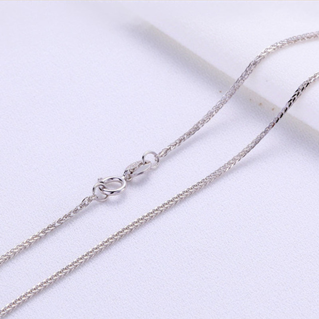 ANI 18K Yellow Gold (AU750) Chain Necklace for Women Engagement Three Color Fine Chopin Chain for Pendant 16 inches or 18 inches 4