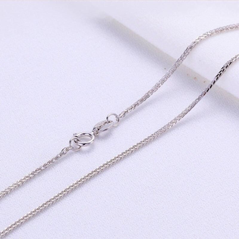 ANI 18 K or jaune (AU750) chaîne collier pour femmes fiançailles trois couleurs Fine Chopin chaîne pour pendentif 16 pouces ou 18 pouces - 4