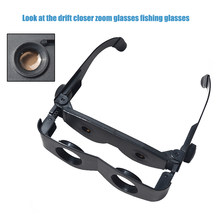 d7ddca6e0 Óculos de Plástico Da Lente de Aumento Lupa portátil Binóculos Telescópio  Para Assistir Jogo de Futebol Ao Ar Livre Pesca Caminh.