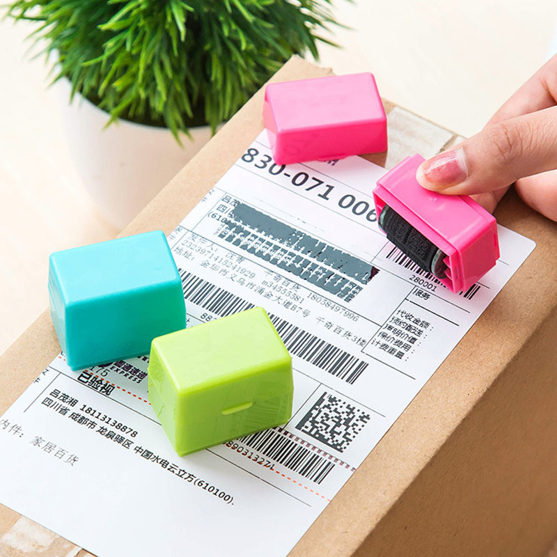 1pcs Roller Self Inking Stock Stamp Seal Theft Protection Code Guard Your ID Confidentiality Confidential Seal 692