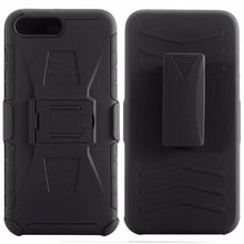 ShockProof Heavy Duty Armour Tough Stand Case With Belt Clip For iPhone 7 iPhone 8 iPhone 7 plus iPhone 8 plus cheap kumonkey Fitted Case hybrid shockproof case Anti-knock Heavy Duty Protection Kickstand Apple iPhones Business Plain black