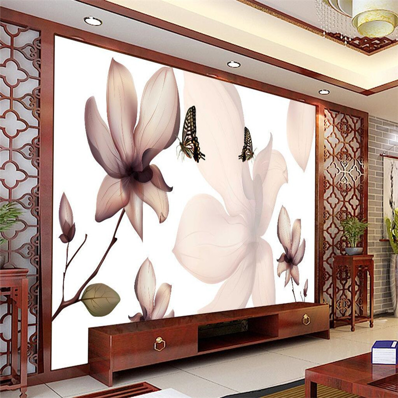 beibehang 3D wall wallpaper for living room abstract flower