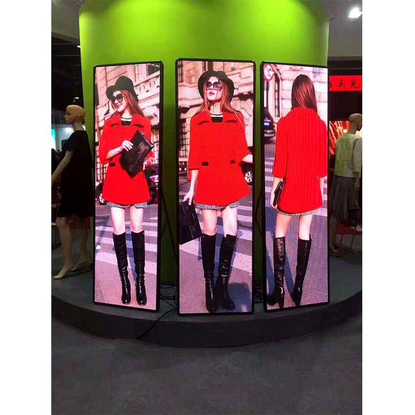 P2.5 Poster Led Display Smd Full Color 640x1920mm Indoor Led Poster Display Screen
