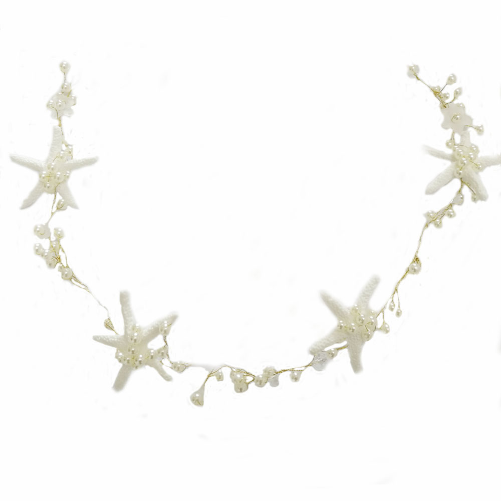 Starfish Extra Long Wedding Hair Vine Beaded Wedding Headpiece with Pearls  Rhinestones and Star fish Beach Destination Wedding -in Hair Jewelry from  Jewelry ... ede9a08187b1