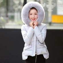 New 2016 autumn and winter slim fur collar down cotton women coat female short design winter jacket Parkas women