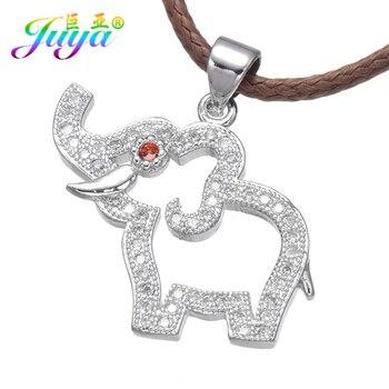 Venta al por mayor joyería de calidad alta hallazgos Micro incrustaciones Animal colgante de elefantes colgantes para mujeres niños manualidades DIY fabricación de joyas