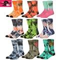 Nueva Tie Dye Calcetines de Los Hombres Puros del Algodón Colorido de La Novedad de Santa cruz Calcetines de baloncesto Calle Hip Hop Skate Hombres de Patinetas 615