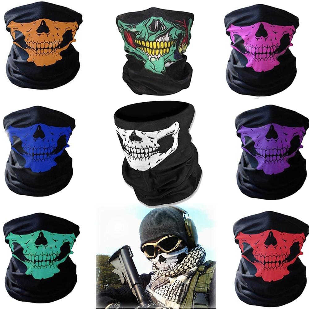 Skull Bandana Warmer Face Mask Headband Neck Face Mask Windproof Dustproof Full Face Scarf  Motorcycle Riding Snowboard Ski Mask