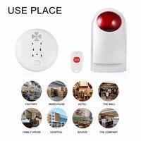 LESHP 4pcs Set 433MHz Wireless Strobe Siren Alarm System Home Burglar Security Spot Alarm System CD2
