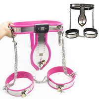 3in1 Stainless Steel Male Chastity Belts Male Chastity Cock Cage Thigh Ring Penis Ring Catheter Chastity Pants for Men G7 4 25