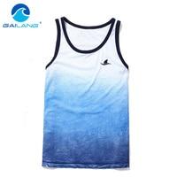QIKE Brand Men S Tank Top Shirts Sleevess Singlets Stringer Fitness Men Casual T Shirts Top