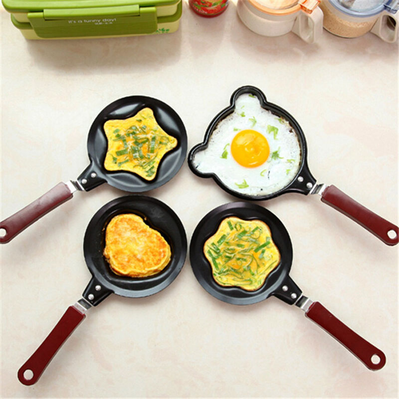 Cartoon Mini Non-Stick Breakfast Omelette Pan Pancake Egg Fryer Skillet Fry Frying Pan Molds Kitchen Cookware ZA3273
