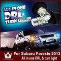 Senhor noite Para S-ubaru DRL2010-2015 Foreste SUV LEVOU WY21W 7440 T20 Piscas Frontais & DRL Tudo Em um