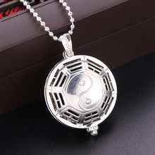Chinese gossip Aroma Diffuser Necklace Open Antique Vintage Lockets Pendant Perfume Essential Oil Aromatherapy Locket necklace(China)