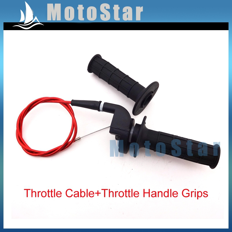 Twist Throttle + Red Cable + Handle Grips For Chinese Pit Pro Dirt Bike Motorcycle XR50 CRF50 CRF70 KLX110 SSR TTR Thumpstar