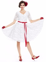 Sisjuly Women Vintage Dress 1950s Style Women Lace Dresses Flower Print Summer Dresses For Women Party