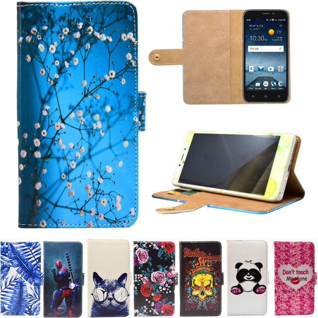 PU Leather Phone Case Cartoon Cases Flip Wallet Stand Cover for ZTE Maven 3  Max XL-in Flip Cases from Cellphones & Telecommunications on