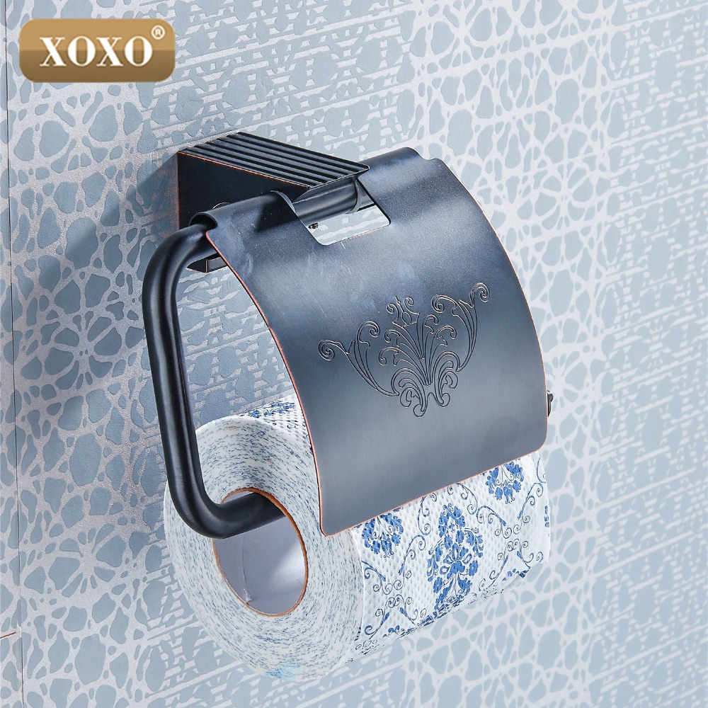 XOXOToilet Paper Holder Roll Holder Tissue Holder Solid Brass Antique Finished Bathroom Accessories Products 18086H