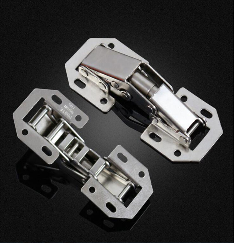 Bridge hinges / spring 90 cabinet door hinge x4 2pcs 90 degree concealed hinges cabinet cupboard furniture hinges bridge shaped door hinge with screws diy hardware tools mayitr