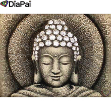 DIAPAI 100% Full Square/Round Drill 5D DIY Diamond Painting Religious Buddha Diamond Embroidery Cross Stitch 3D Decor A19070 diapai 5d diy diamond painting 100% full square round drill text moon buddha diamond embroidery cross stitch 3d decor a21533