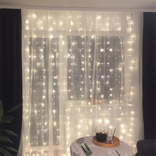 2*2 180LED Icicle Fairy String Light Christmas LED Garland Wedding Party Lights Remote control Curtain Garden Patio Decor