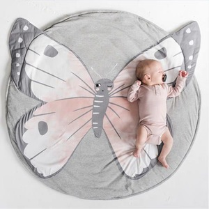 Image 5 - 90CM INS Baby Play Mats Crawling Carpet Animal Round Floor Rugs for Kids Baby Blanket Cotton Game Pads Children Room Decor