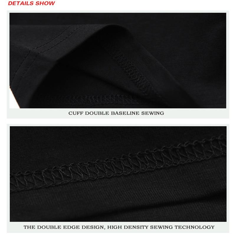Hombres Lobo 3D Camisetas Moda Negro Blanco Camiseta estampada Casual - Ropa de hombre - foto 5