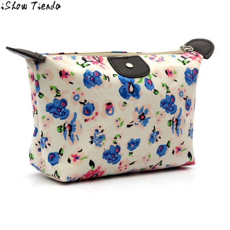 Professional Cosmetic Bag For Girls Lady Fashion Fresh Floral Printing Cosmetic Bags Women Travel Portable Toiletry Bag #Zer