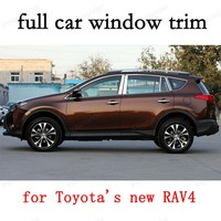 Car Exterior Accessories full Window Trim Decoration Strips for Toyota new RAV4 Stainless Steel car stying with column