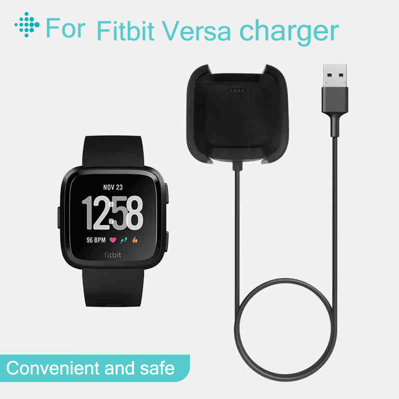 Quality USB Charging Cable Cradle Station For Fitbit Versa Charger Fit Bit Versa Band Smart Watch Replacement USB Charger Cable