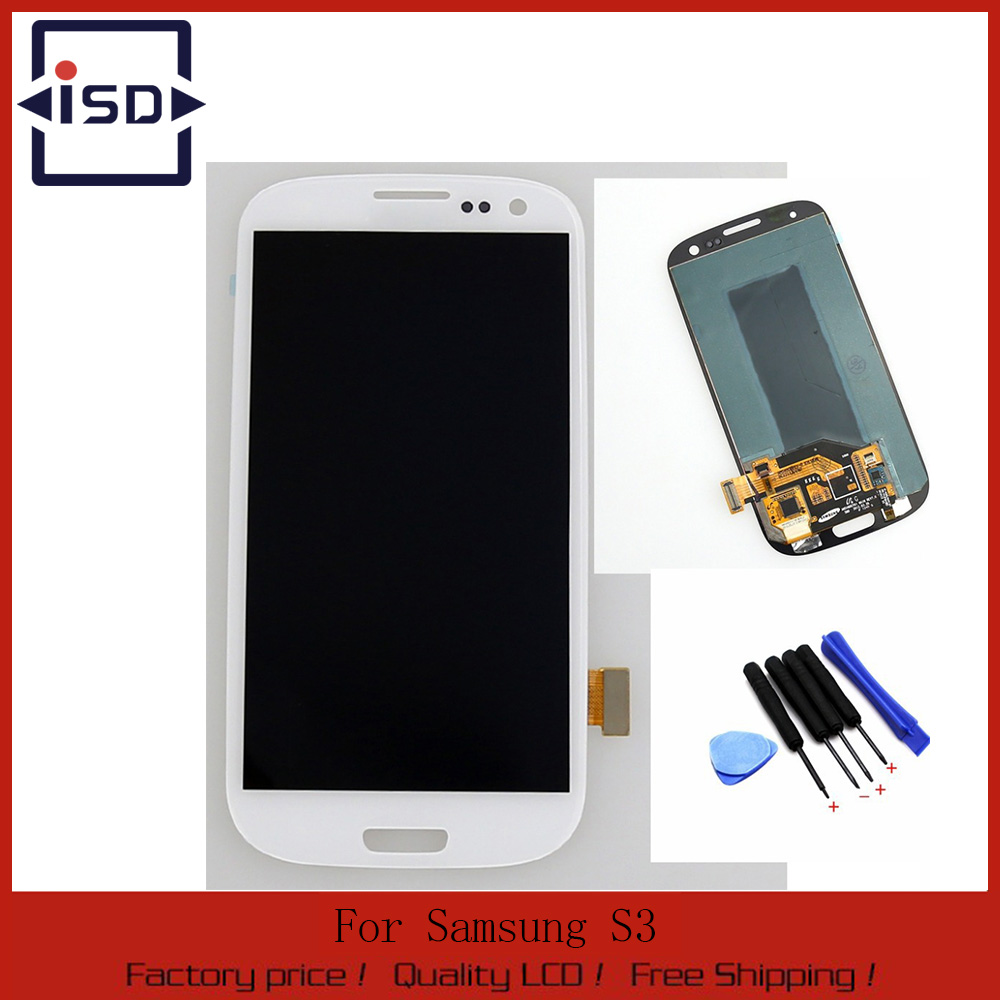 ФОТО For Samsung Galaxy S3 i9300 lcd display touch screen with digitizer glass assembly + Tools replacement , White free shipping !!!