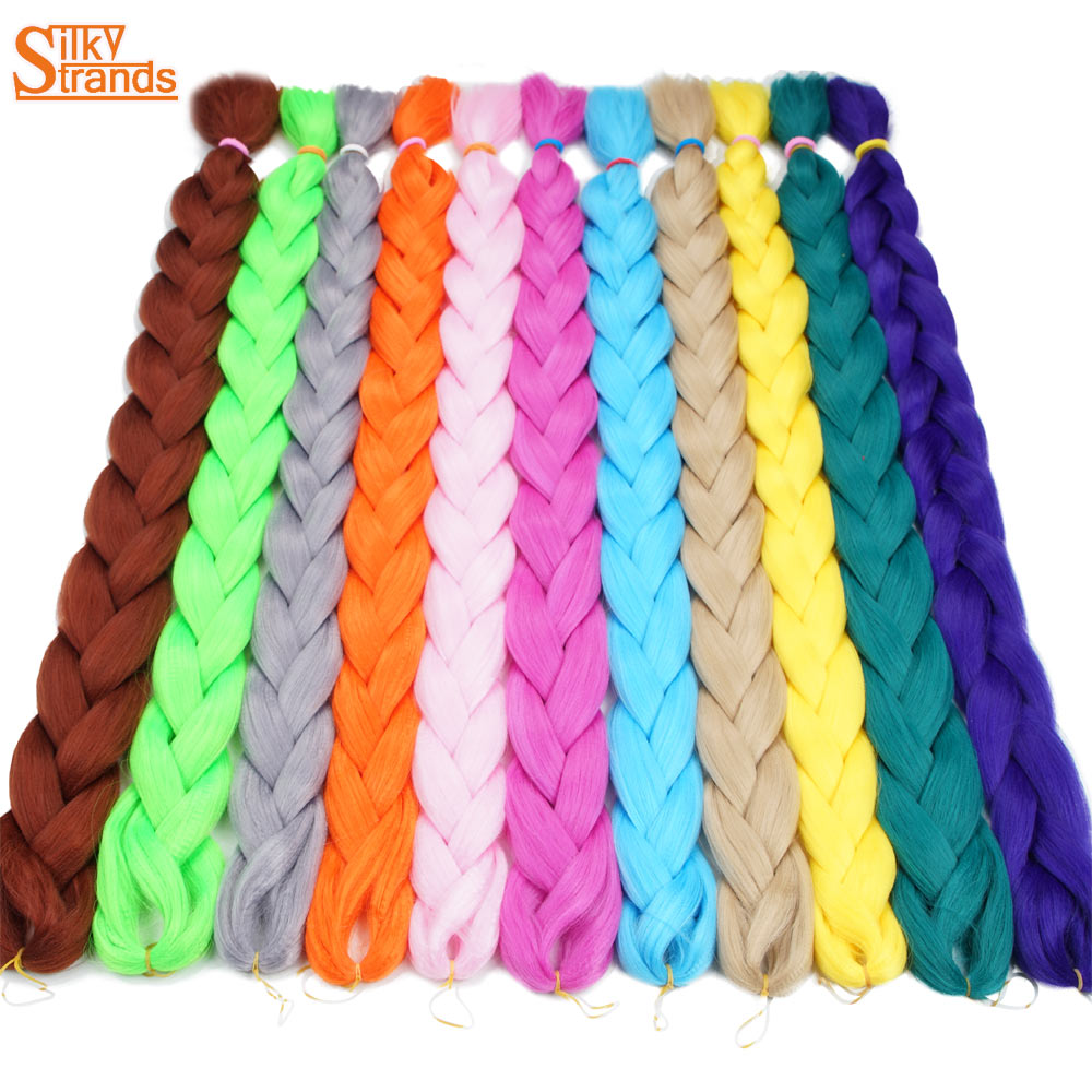 Silky Strands 82inch 165g Crochet Braiding Hair Jumbo Braids Synthetic Hair Extensions 1pack/Lot