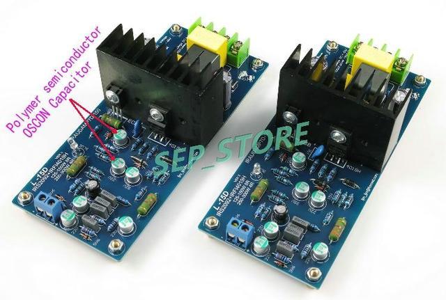 LJM Hi-end  L15D  Stero Audio Power Amplifier Board IRS2092 IRFI4019H  IRAUDAMP7S (Assembled Amp Board,Include 2 Bobards)