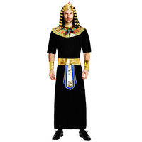 Adult Egyptian Pharaoh Costume Halloween Cosplay King of Egypt Costume Male Royal Pharaoh Costume Men Fancy Dress Party Outfit