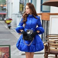 Dabuwawa фонарь рукавами длинный синий зимний пуховик куртка розовая кукла