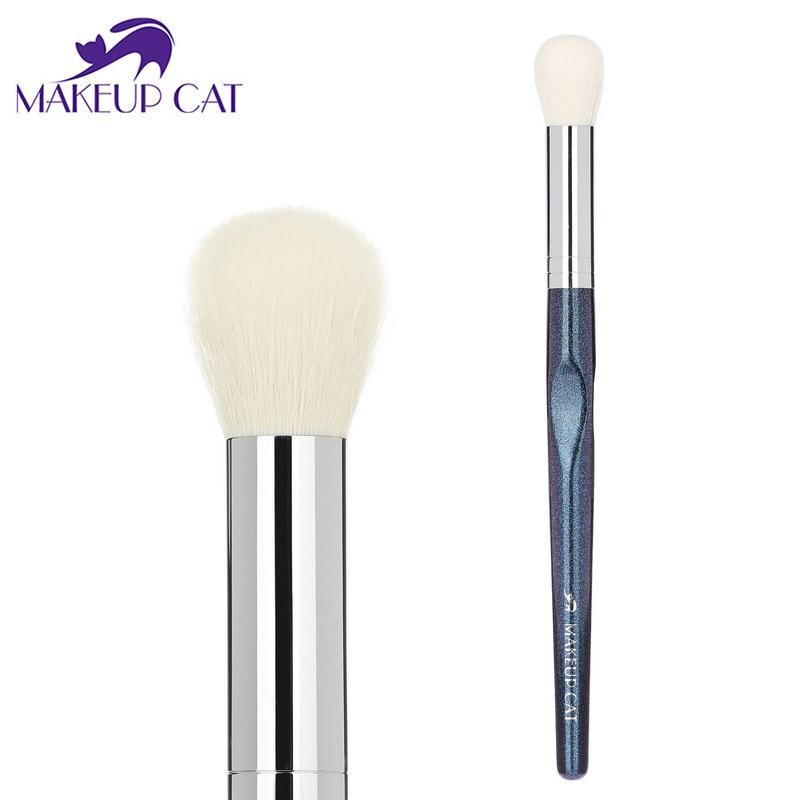 Makeup Cat Precision Highlight Brush Blush Brushes Soft Face Beauty Make Up Tools Maquiagem Small Round Brushes Goat XK12