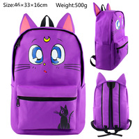 Sailor Moon Backpacks Children Cartoon Canvas School Backpack for Teenagers Boys Men Women Kids Mochila Laptop Bags