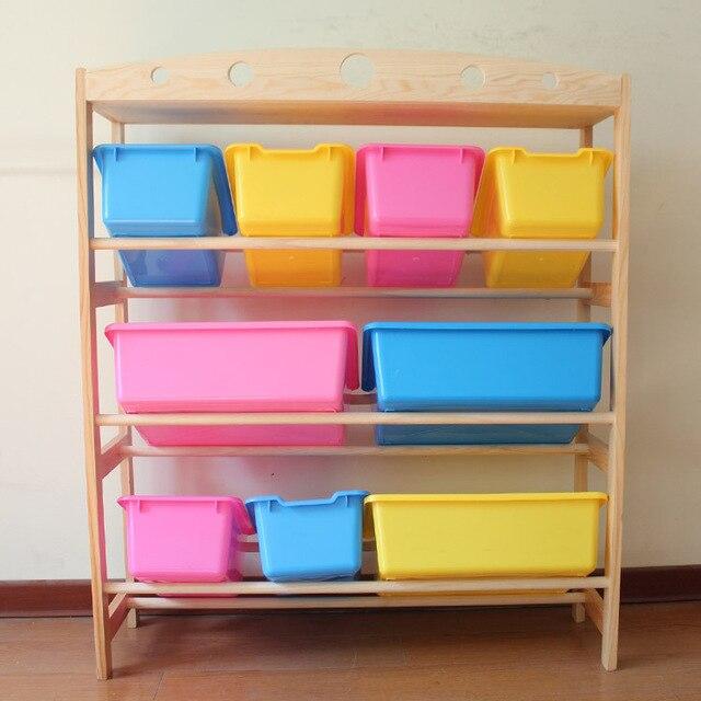 Toys Storage Holder Cases Rack / Wooden Kids Putting Away Rack / Montessori  Furniture /