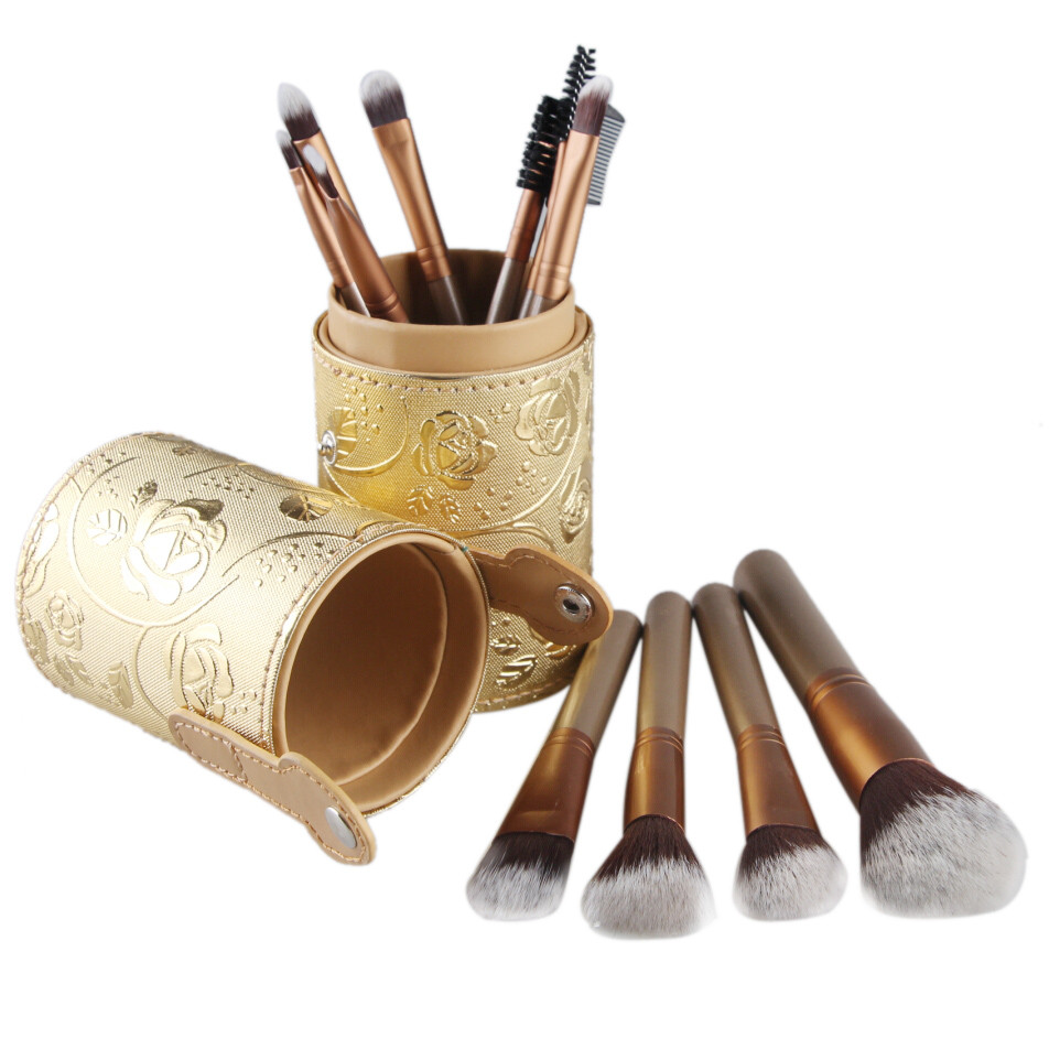12PCS Makeup Brushes Cosmetic Set Eyeshadow Brush Blusher Cosmetic Tools natural makeup High Quality Facial Cheek Traveling professional makeup brush set 12pcs high quality makeup tools