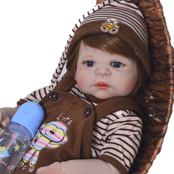 Silicone Full Body Reborn Dolls 23'' Realistic alive Baby Dolls Boy Fashion Kids Toy Waterproof bebe reobrn Boneca  Gifts