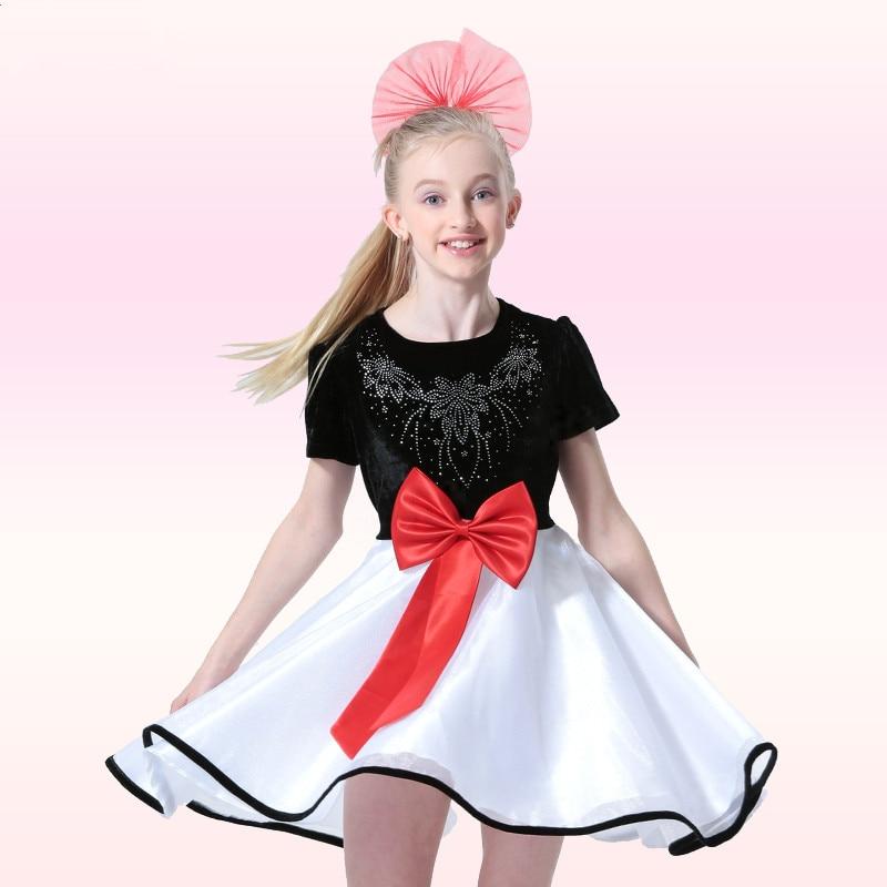 Gorgeous Rhinestone Flower Little Girls Bridal Dress Lovely Bowknot Child Salsa Dance Dress with Headwear Baptism Kids Dancewear мозаика atlas concorde россия s m woodstone champagne mosaic 30 5x30 5