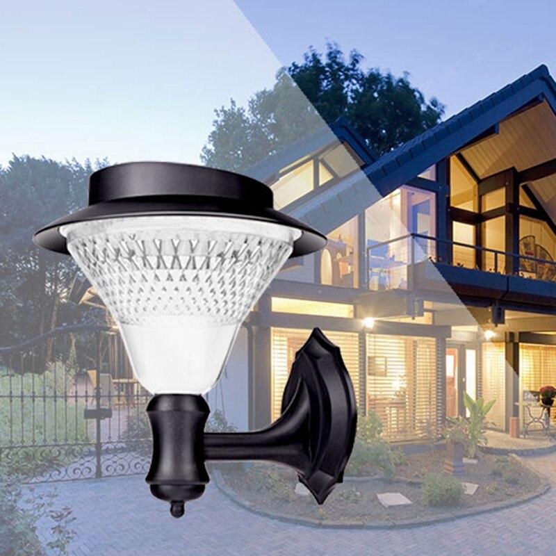 diodo emissor de luz solar 32 luz jardim parede luz sensor da lampada de parede ao
