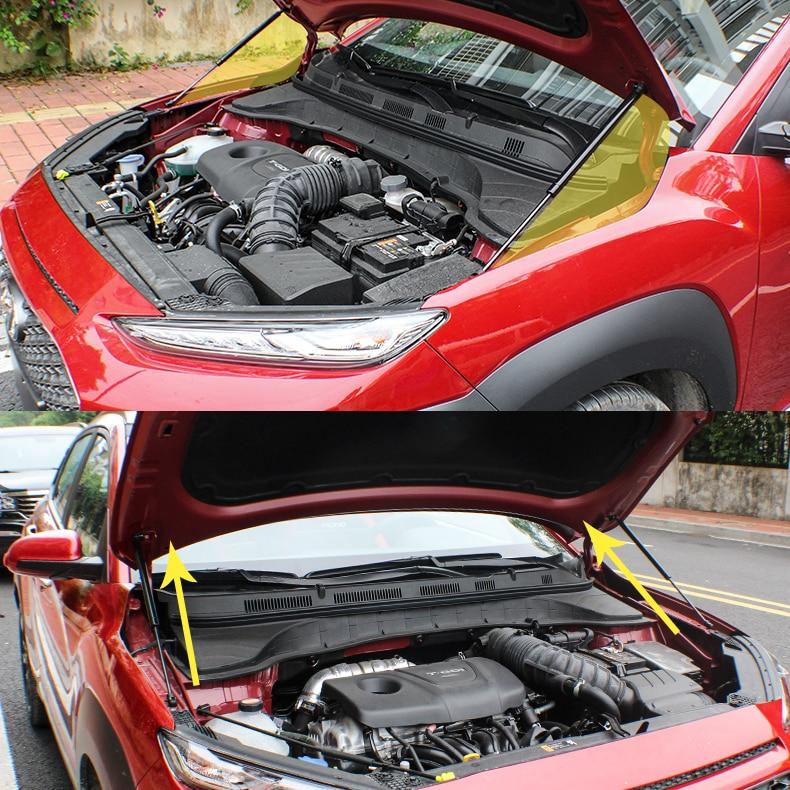 Engine Hood Lift Support Shock Strut Damper 2pcs For Hyundai Kona 2017-2019