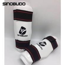 SINOBUDO ITF новейший тхэквондо защитный голень Защитное приспособление для тхэквондо нога защита для тхэквондо-протектор высокие боксерские наборы