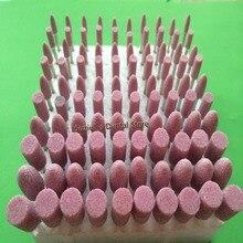 100PCS/set Dental Gravel Mounted Point Burs 2.35mm 3.0mm Bullet Cylinder Shape Dental Lab Clinic Polishing Grinding Material