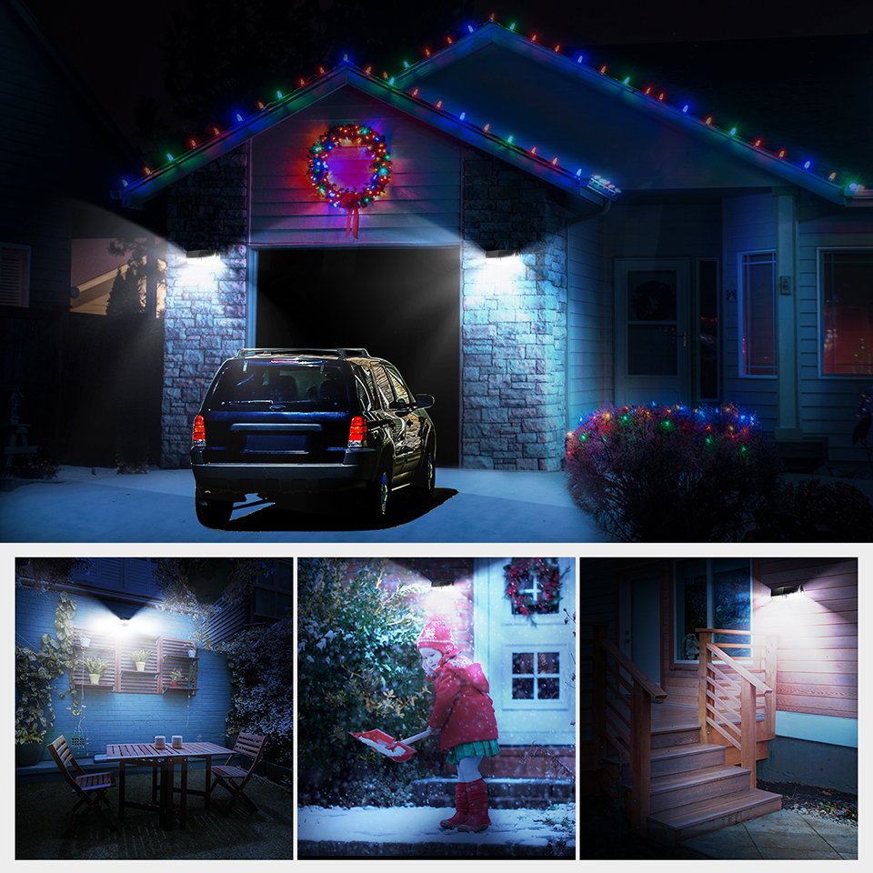 Mpow CD174 3 Adjustable Light Model 66 LED Bright Solar Powered Outdoor Lights (6)