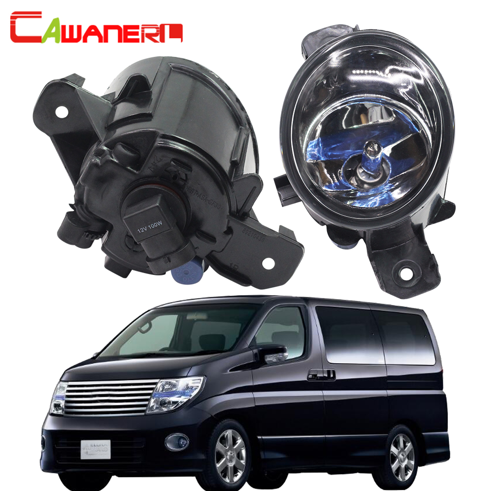 Cawanerl 2 Pieces 100W H11 Car Accessories Fog Light Daytime Running Lamp DRL Halogen Bulb 12V For Nissan Elgrand 2002 cawanerl 2 x car led fog light drl daytime running lamp accessories for nissan note e11 mpv 2006