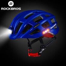 Rockbros luz ciclismo bicicleta capacete ultraleve capacete intergrally-moldado mountain road mtb bicicleta capacete de segurança homens mulheres 49-59 cm