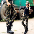 Lazer Moda Calças de Camuflagem Militar Calças de Camuflagem Calças de Combate Do Exército Das Mulheres de Alta Qualidade Roupas Casuais