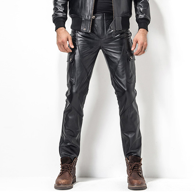 Men Pants Fashion Leather
